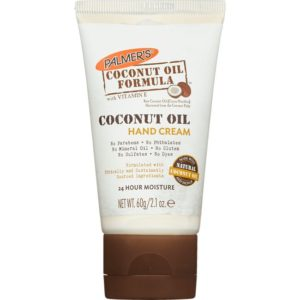 Coconut oil formula hand cream tube