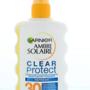 Ambre solaire spray clear protect 30