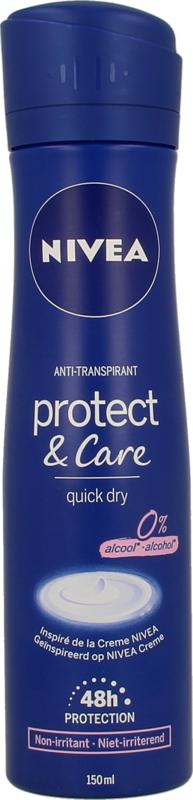Deodorant spray protect & care