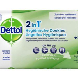 DETTOL DOEKJES 2IN1 HYGIENISCH 12S