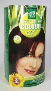 Long lasting colour 2.66 reddish black