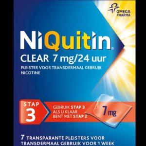NIQUITIN PLEISTER 7MG STAP 3 7S