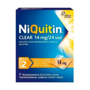 NIQUITIN PLEISTER 14MG STAP 2 7S