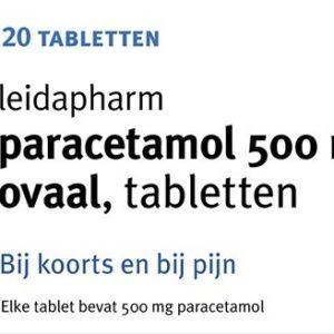 LEIDA PARACETAMOL OVAAL 500MG 20T