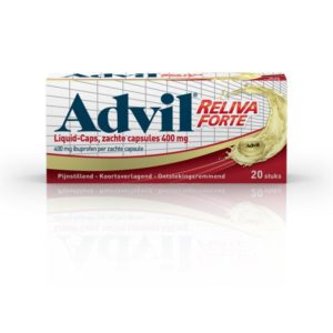 Advil reliva liquid caps 400mg UAD