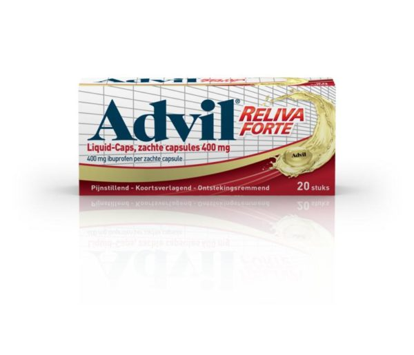 Advil reliva liquid caps 400mg UAD