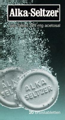 ALKA SELTZER 324MG ACETYL UAD# 20T