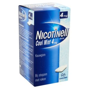 NICOTINELL GUM COATED 4MG MINT 96S