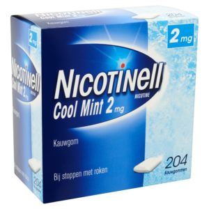 NICOTINELL GUM COATED 2MG MINT 204S