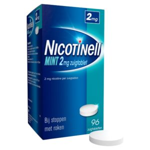 NICOTINELL ZUIGTABLET 2MG MINT 96S