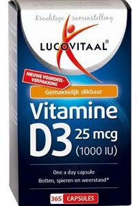 LUCOVITA VITAMINE D3 25MCG 365C