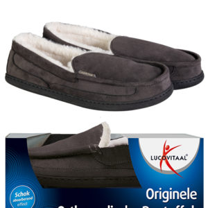 Orthopedische pantoffels antraciet 39-40