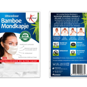 Lucovita Bamboe Mondkapje Wit 1S