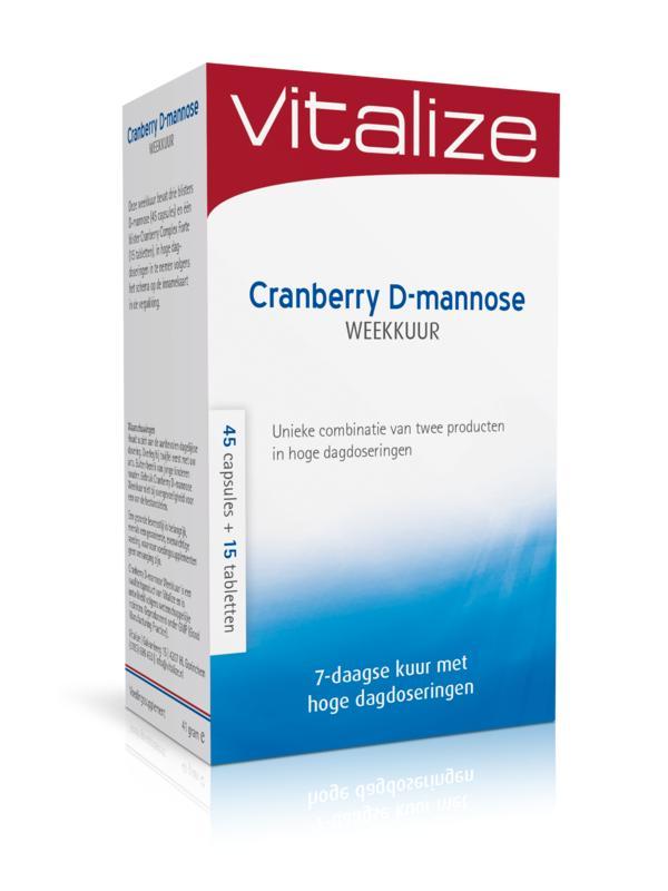 Cranberry D mannose weekkuur 45 caps 15 tabl