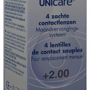 UNICARE 1M LENS 4PACK P2.00 1S