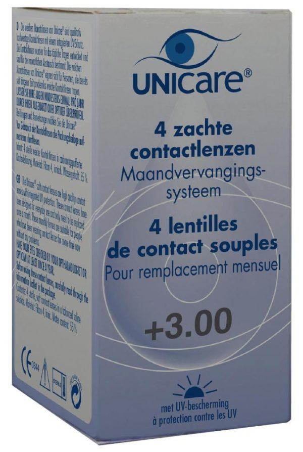 UNICARE 1M LENS 4PACK P3.00 1S
