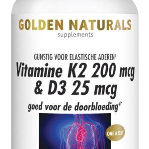 GOLDEN NATURALS VIT K2&D3 60VC