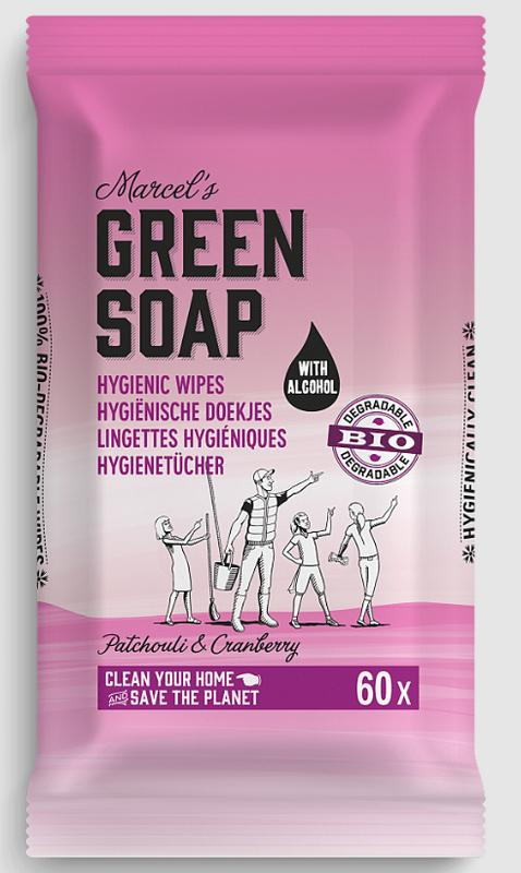 Cleansing whipes patchouli & cranberry bio