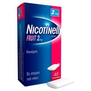 NICOTINELL GUM COATED 2MG FRUI 48S