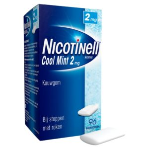 NICOTINELL GUM COATED 2MG MINT 96S